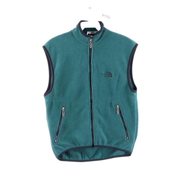 Vintage 90s The North Face Fleece Vest Green USA